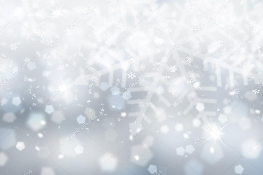 silver blue snowflake wallpaper � stock photo