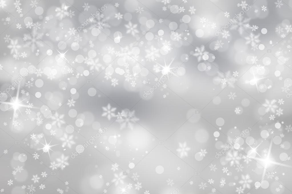 Silver snowflake with sparkle background — Stock Photo