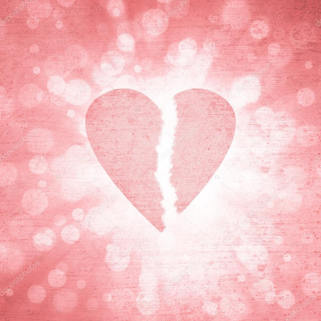 Grunge Textured Broken Heart Symbol Background