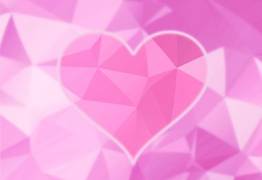 Artistic bright pink heart background