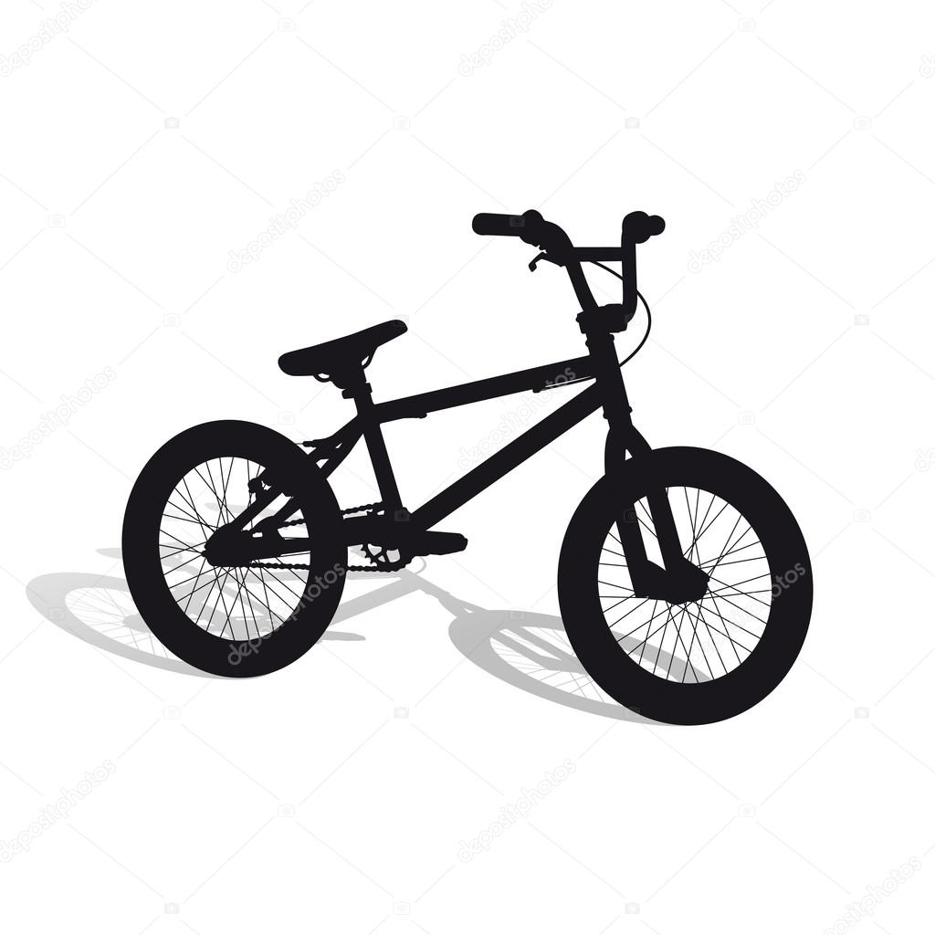 Bike in outline form with shadow (new) — Stock Vector © WhiteNose ...