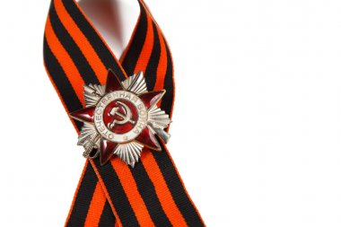Order of the Patriotic War in St. George's Ribbon isolated on a white background.  illustrative editorial.