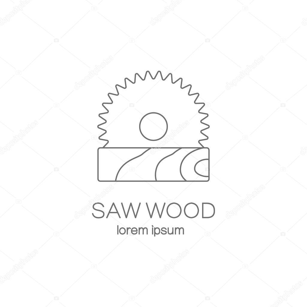 saw wood logotype design templates ストックベクター ciripasca