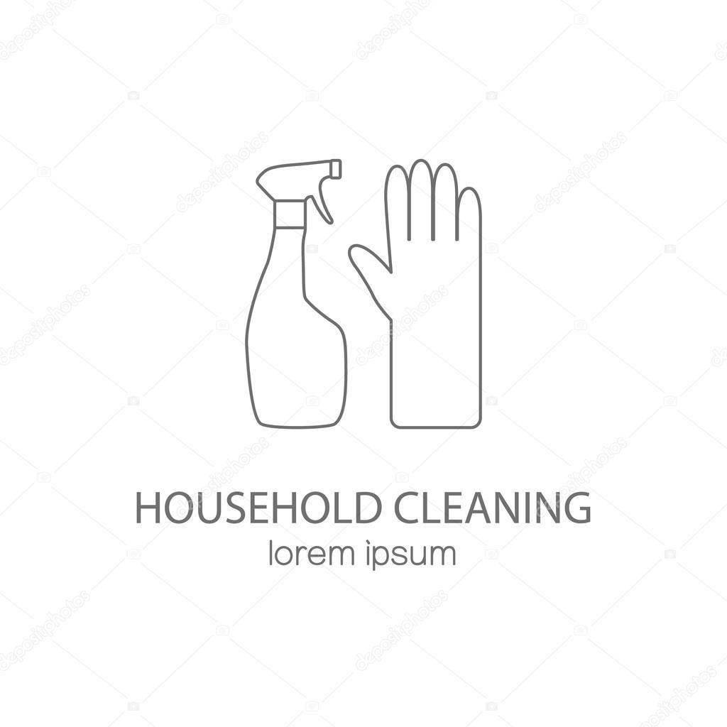 Haushalt Reinigungs-Logo-Design-Vorlagen — Stockvektor © Ciripasca ...
