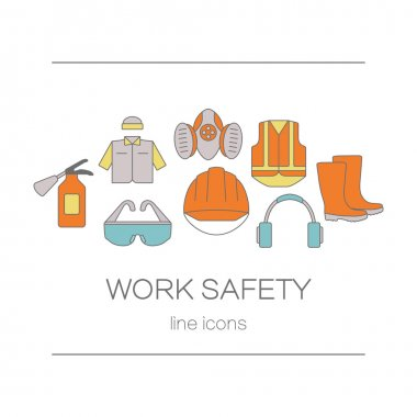 Concept of title site page or banner for safety work