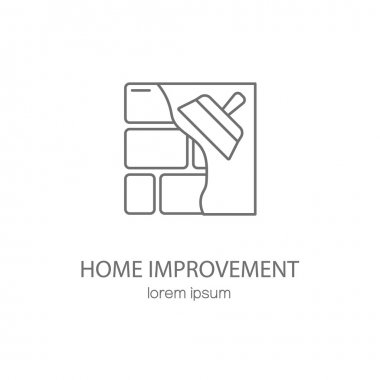 Home improvement logotype design templates.