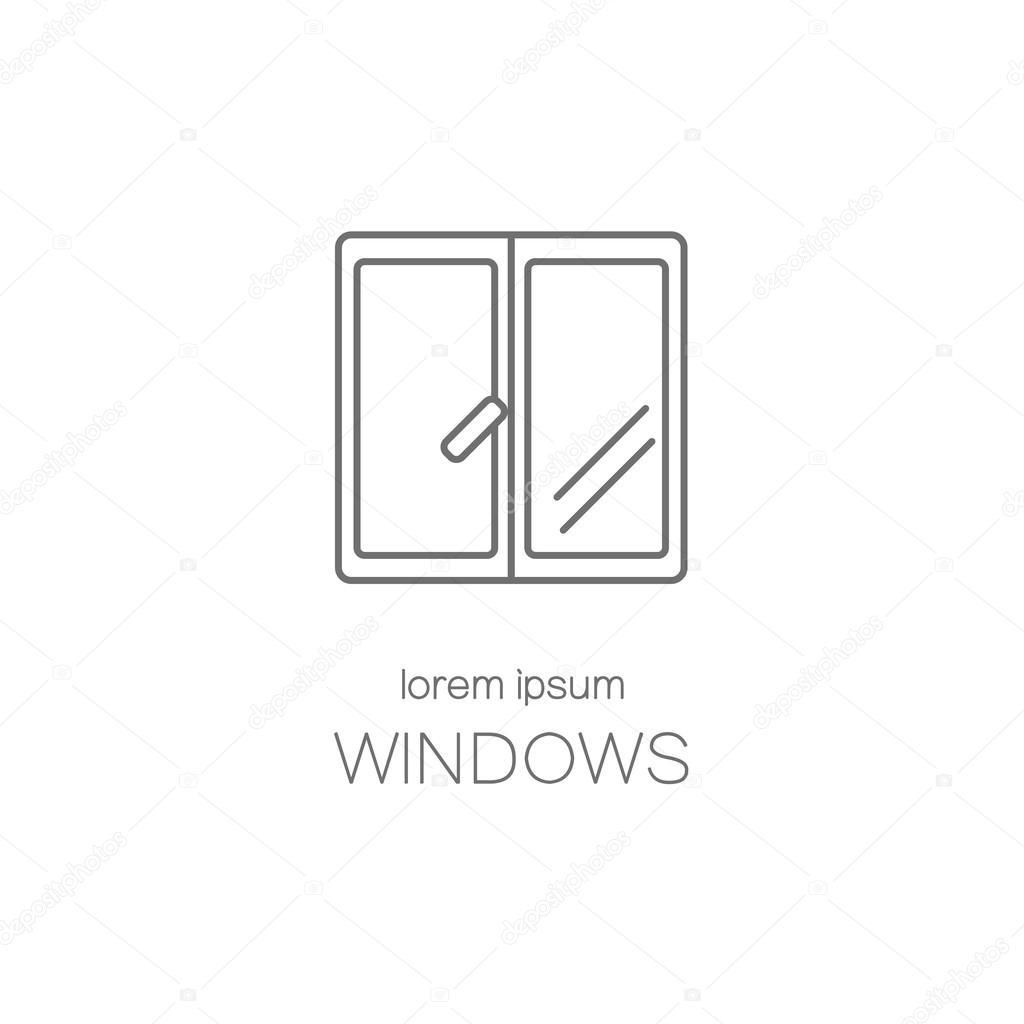 Okno Wiersza Ikona Logo Projektowanie Szablonów Grafika