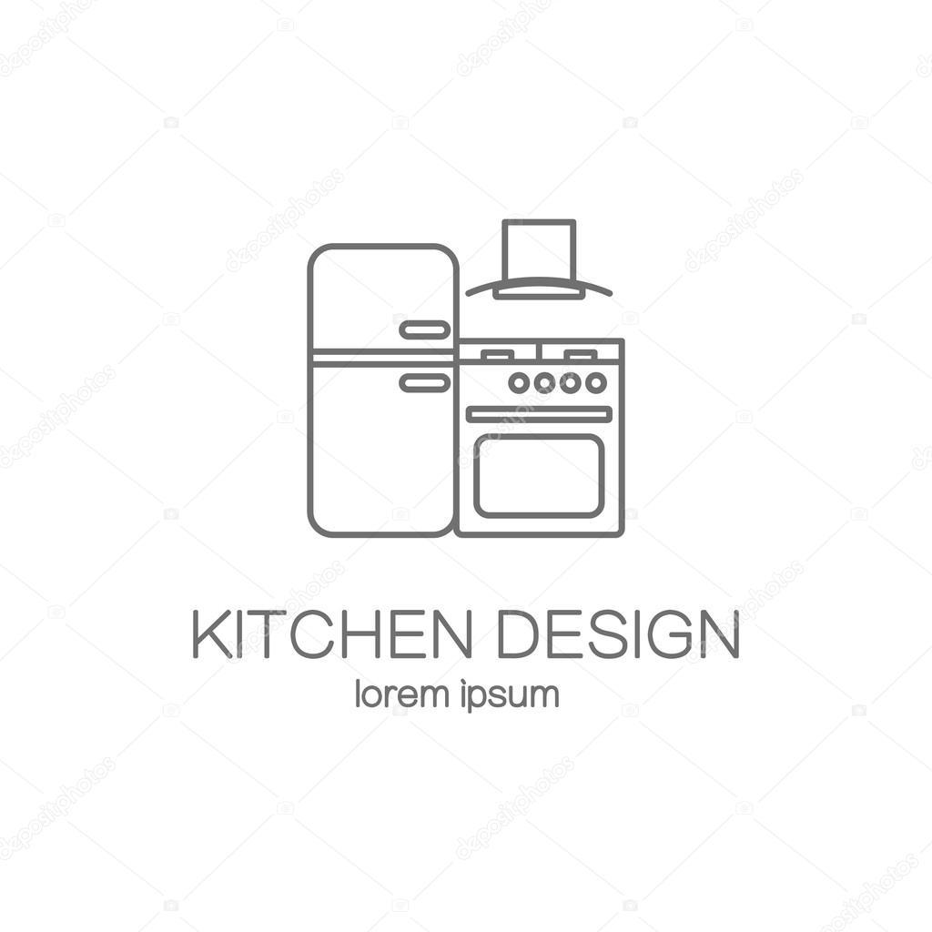 Plantillas de diseño de logo de cocina — Archivo Imágenes ...