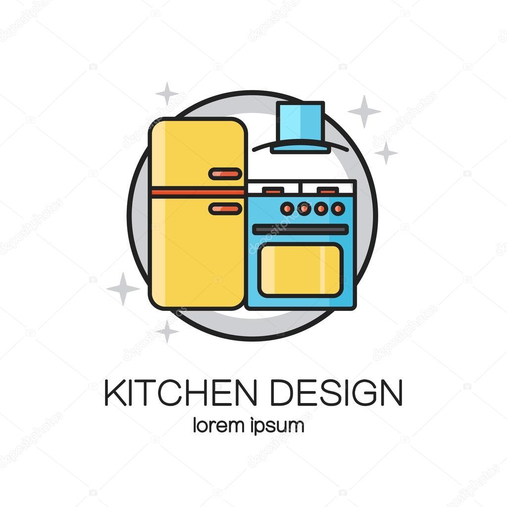 Küche-Design-Line-logo — Stockvektor © Ciripasca #119166542