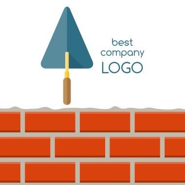 Flat design of house repair logo