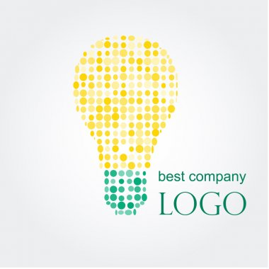 Light bulb idea vector illustration. Logo concept.