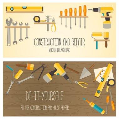 Vector flat design DIY and home renovation tools.