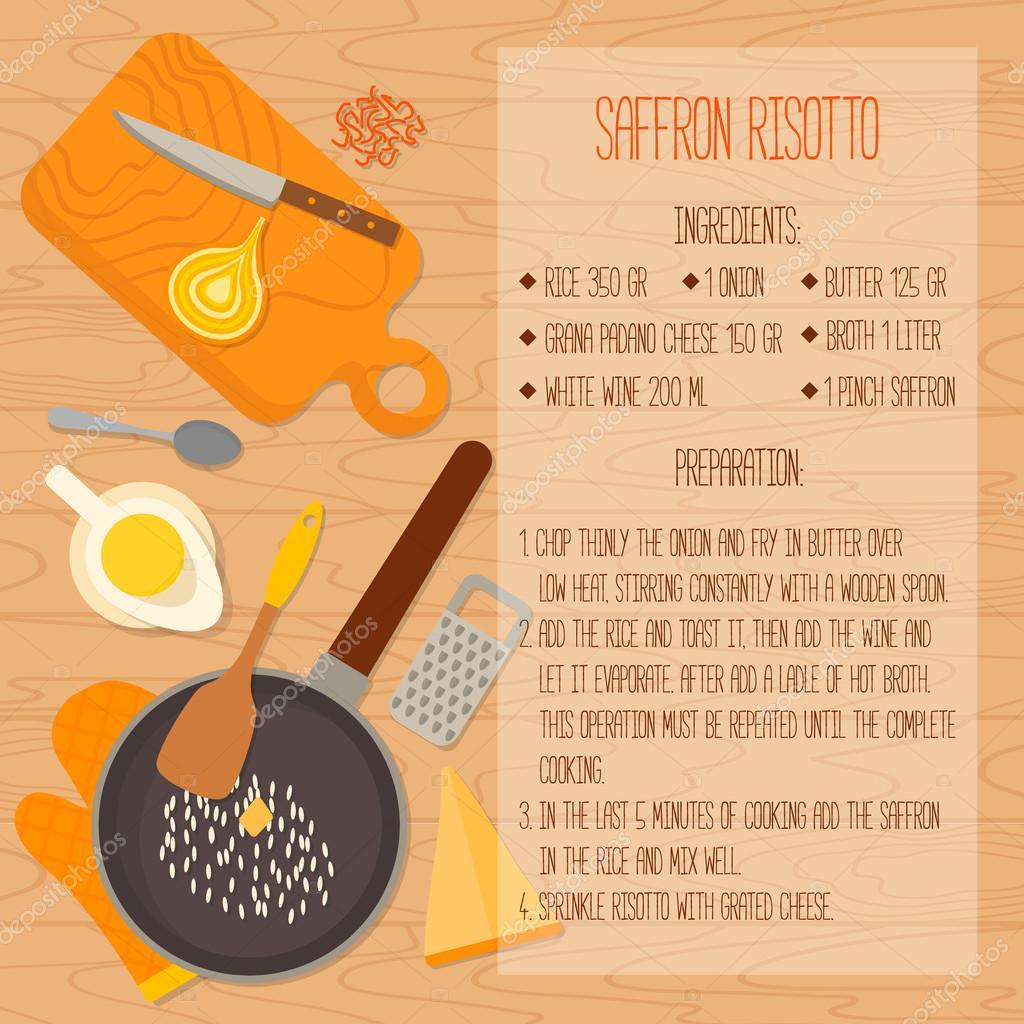 Ilustracion: diseño para recetas de cocina | Receta de cocina ...