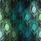 bezešvé vzor s pavími pery