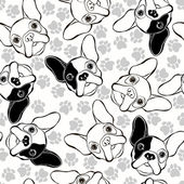 Photo Pattern with French Bulldogs