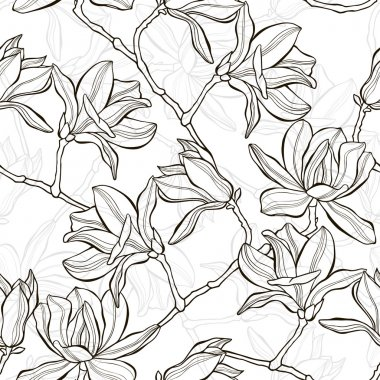 Background with magnolia flowers