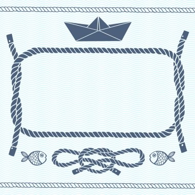 Nautical card with frame