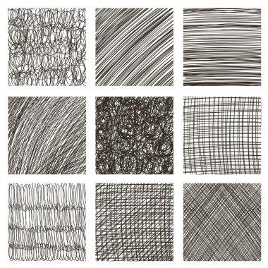 set of hand drawn squares.