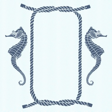marine knots, ropes and seahorse