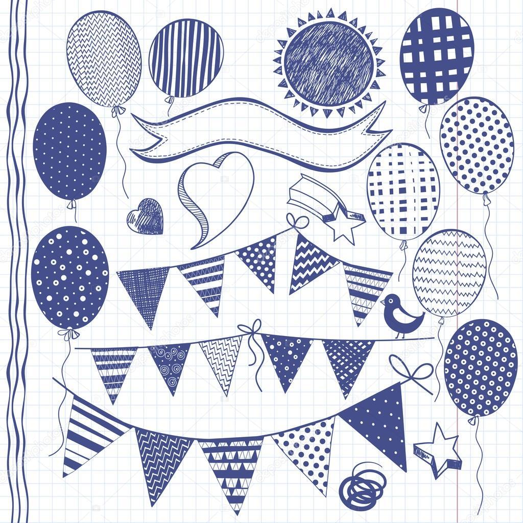 garland flags invitation