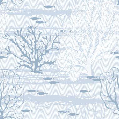 Undersea world seamless pattern