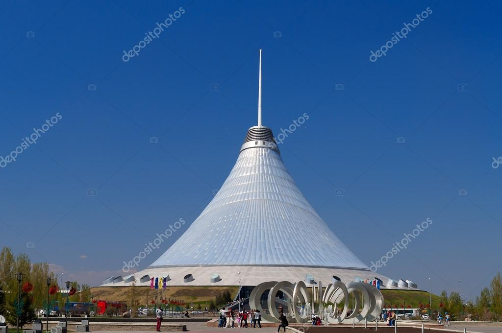 ASTANA KAZAKHSTAN - MAY 10 2014 Khan Shatyr is a giant transparent tent in Astana. Shopping center. The 150m-high tent has a 200m elliptical base ... & Khan Shatyr is a giant transparent tent in Astana u2013 Stock ...