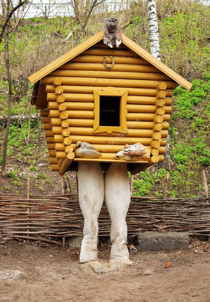 Small Wooden Hut On Chicken Legs U2014 Stock Photo