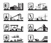 Fotografie Různá průmyslová odvětví s logy