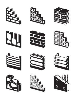Construction materials for walls