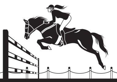 Jockey ride horse