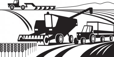 Agricultural machinery in the field