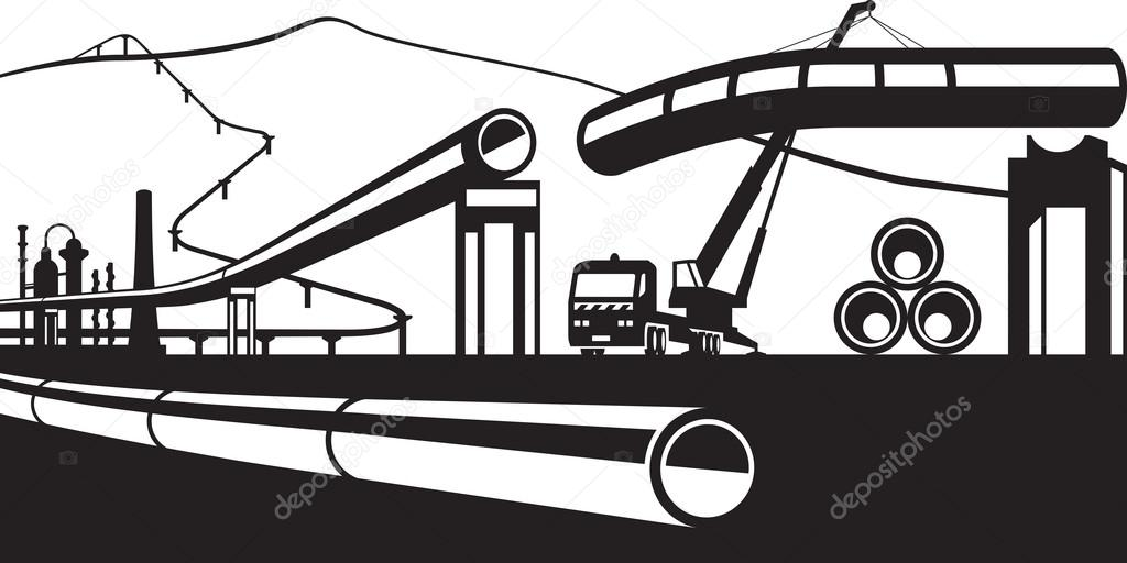 Construction of industrial pipelines