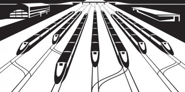 High-speed rail trains in perspective