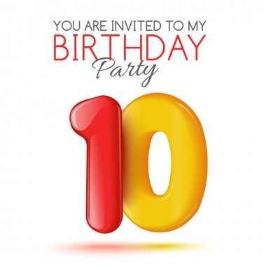 Invitation card for the celebration of 10 years