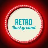 Photo Retro frame circle with neon lights