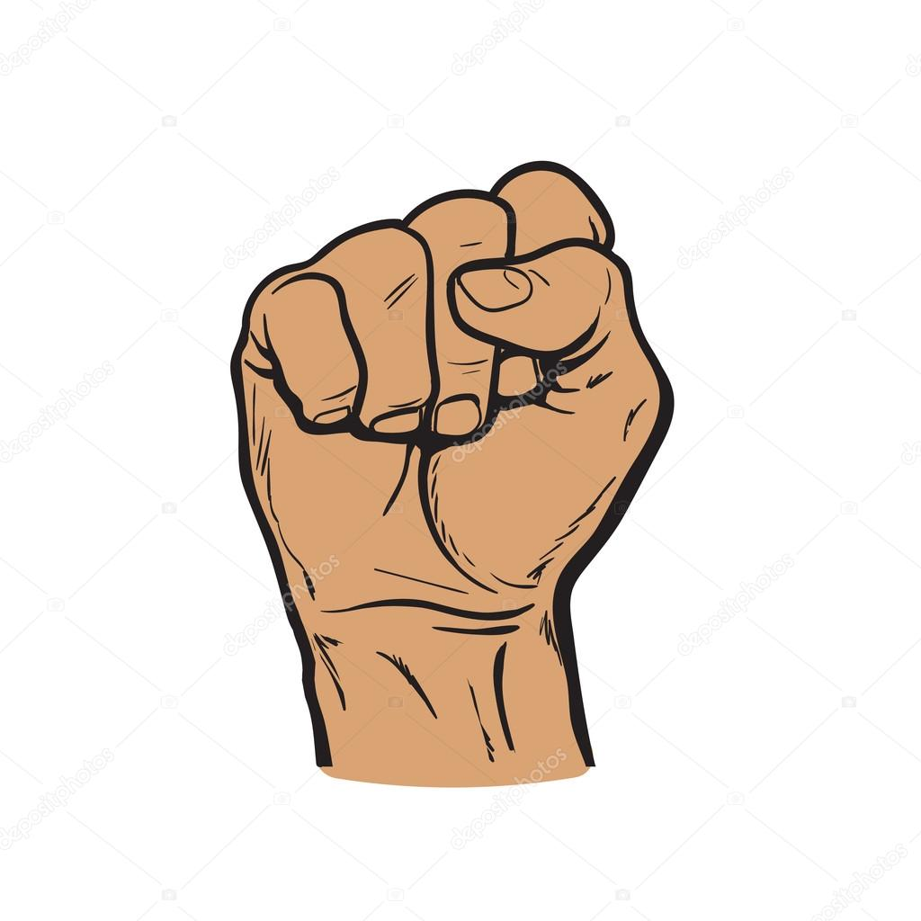 Hand Shows The Fist As A Symbol Of Power Stock Vector Sabelskaya