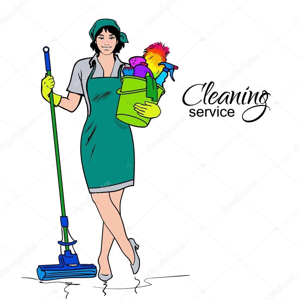Im genes limpieza de casas mujer en uniforme servicios - Imagenes de limpieza de casas ...