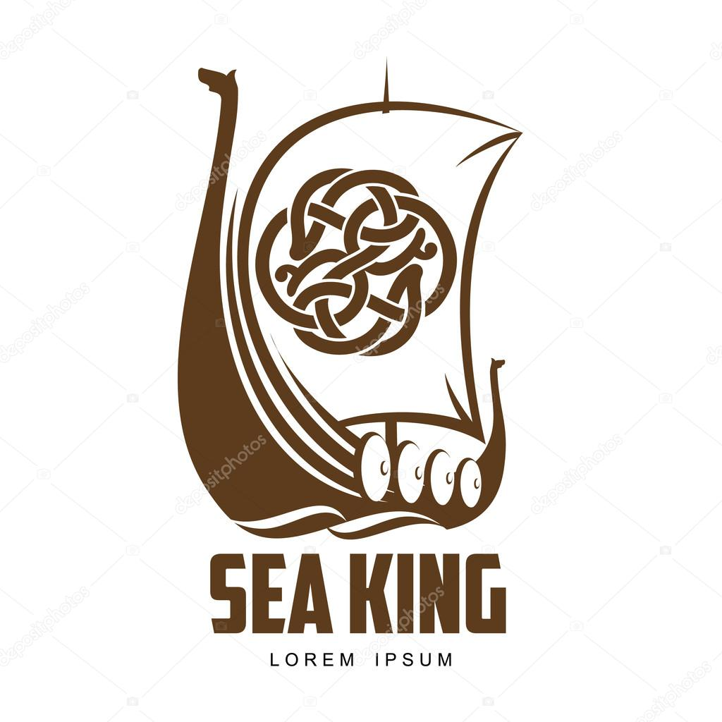 ship viking logo stock vector sabelskaya 115008094 rh depositphotos com viking ship logo black background viking ship logo free