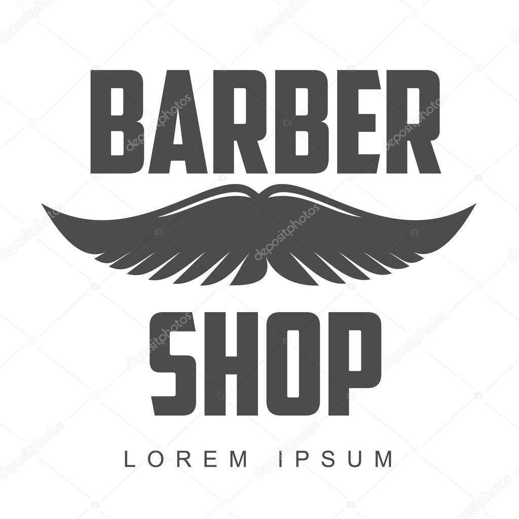 vintage barber shop logos labels badges design elements