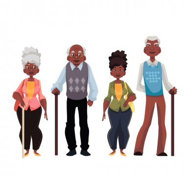 African American old men and woman