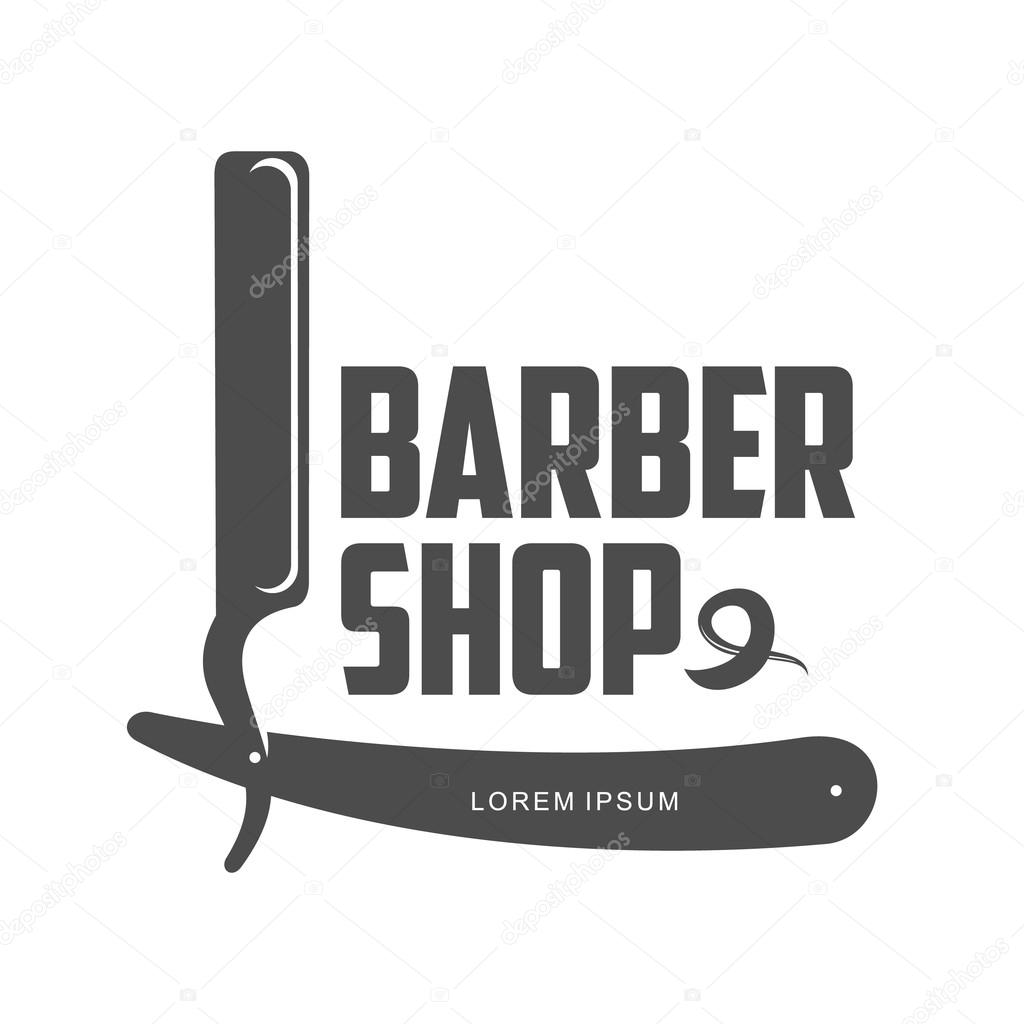 Vintage barbeiro loja logotipo, etiqueta, distintivo e design elemento,  ilustração isolado no fundo branco. Logotipo de pentes, bigode e tesouras  para ...