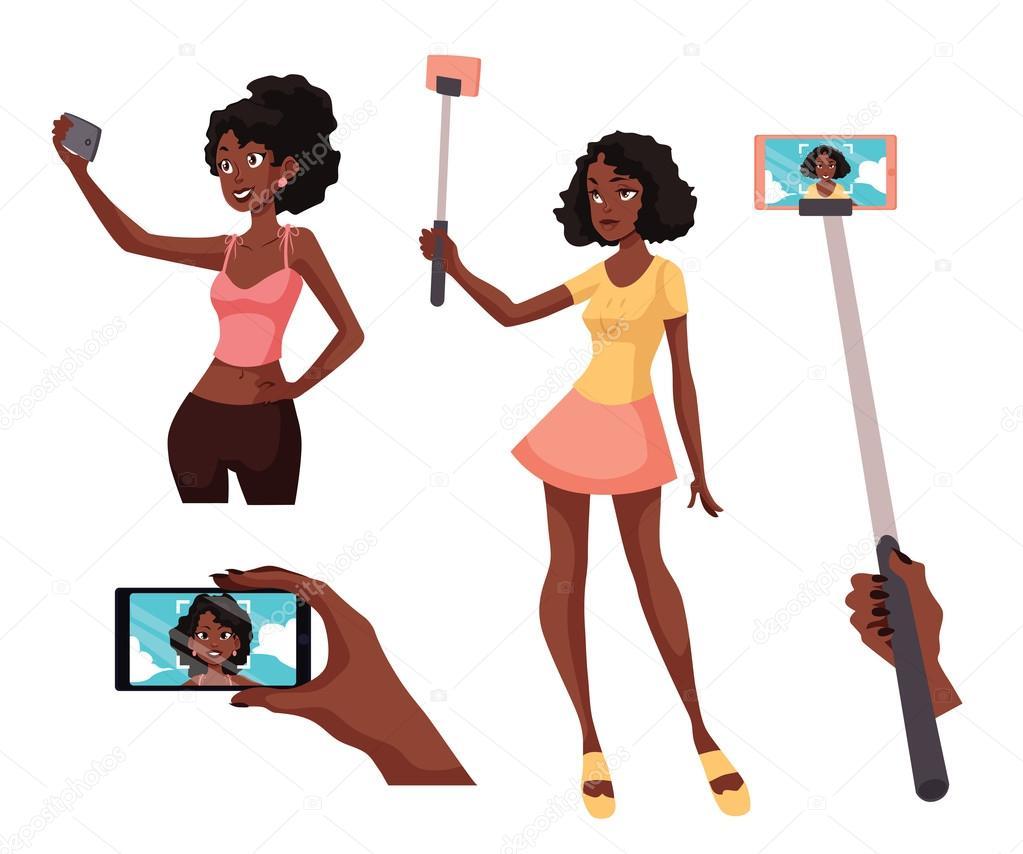 Jonge zwarte meisjes pic