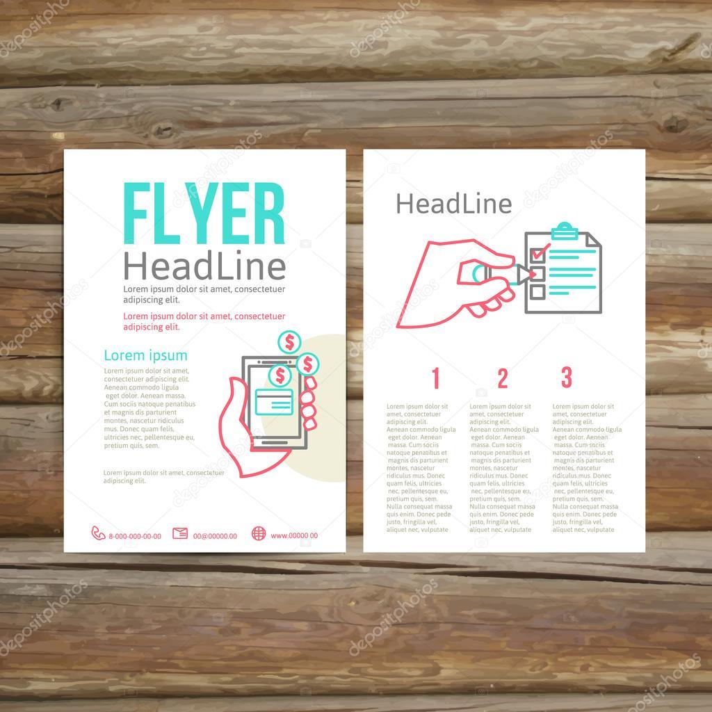Resumen diseño de folleto Brochure, lista de verificación — Archivo ...