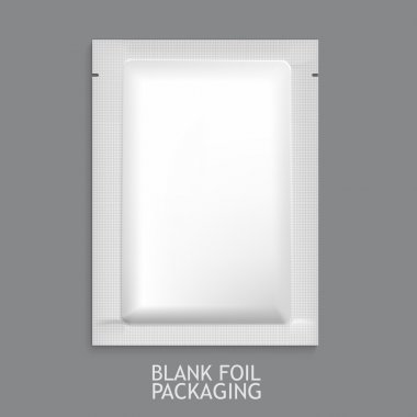 Mockup Blank Foil Packaging.