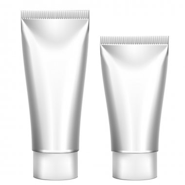 Blank Cosmetics Packages, Set Tube Template