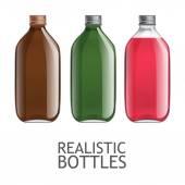 Fotografie Vorlage von Glasflaschen
