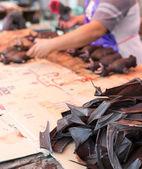 Fotografia Carne di pipistrello sul vendere nel mercato
