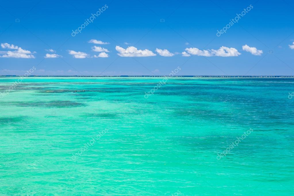 Blue toned sea of Togean Islands