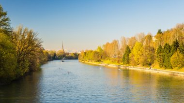 Postcard of Turin (Torino) with Po River