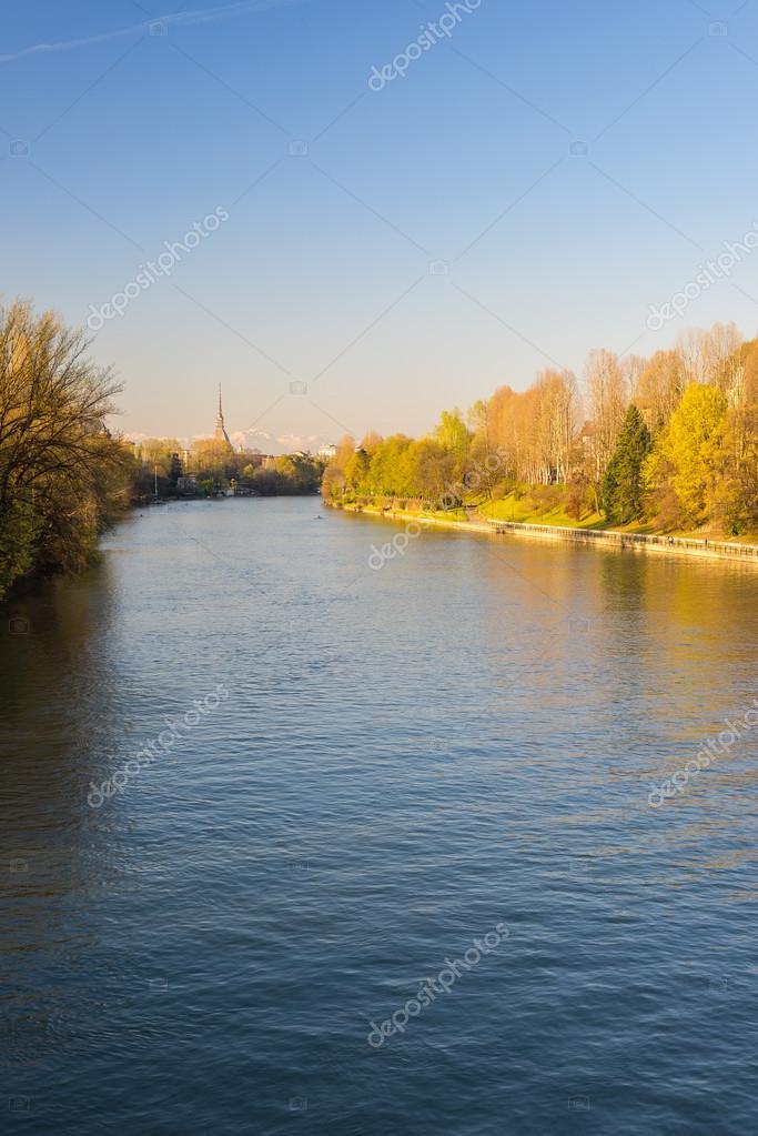 Postcard Of Turin Torino With Po River Stock Photo Fbxx - Po river